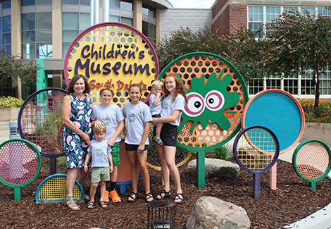 Tourists Take In Children's Museum and Town