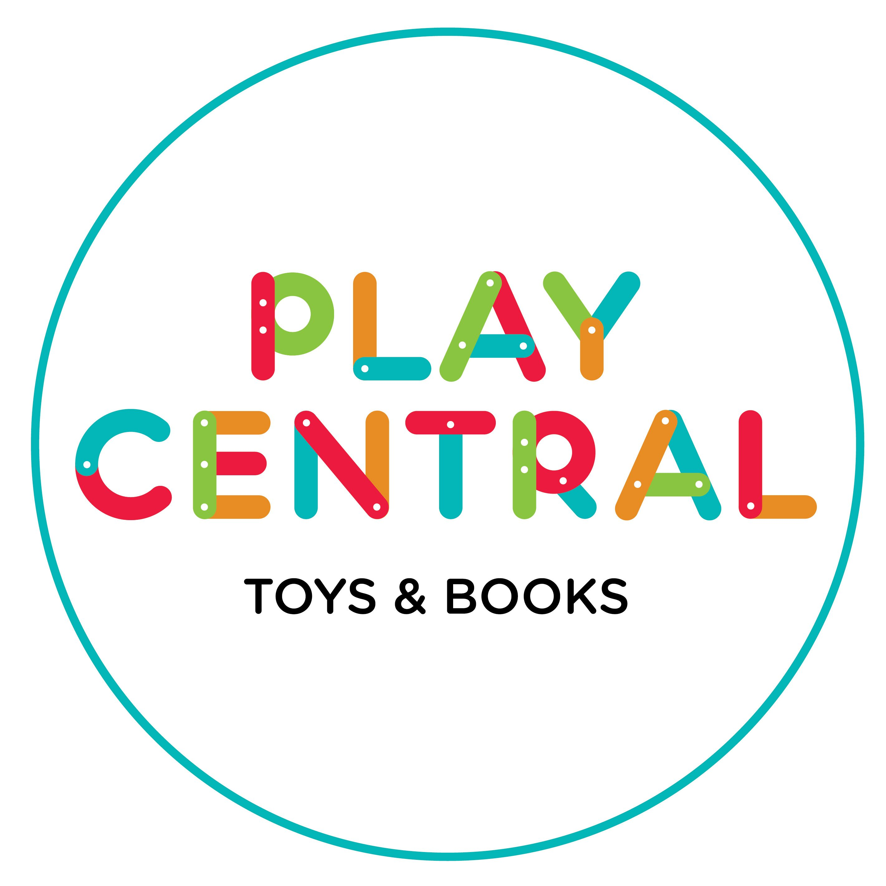 Play Central Toys and Books logo.