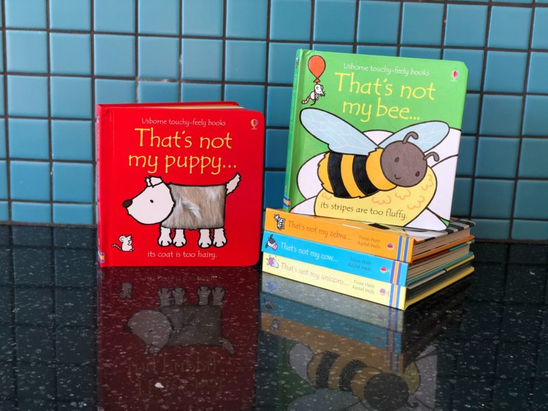 "A variety of book titles ""Thats not my..."" from Usborne books."