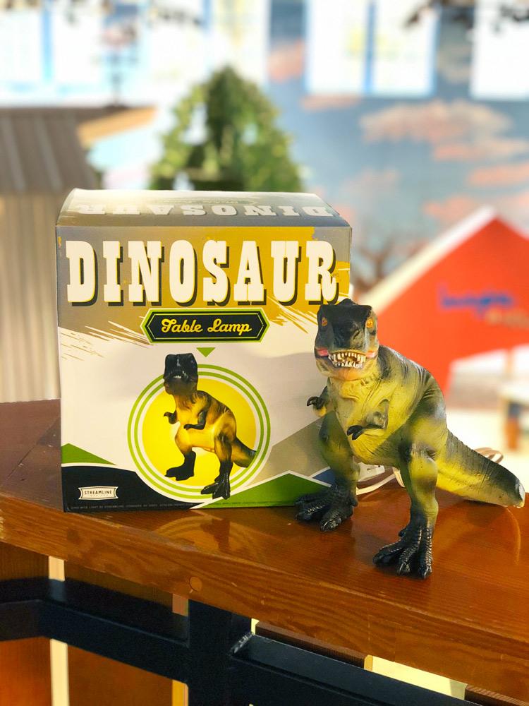 T. rex dinosaur lamp.