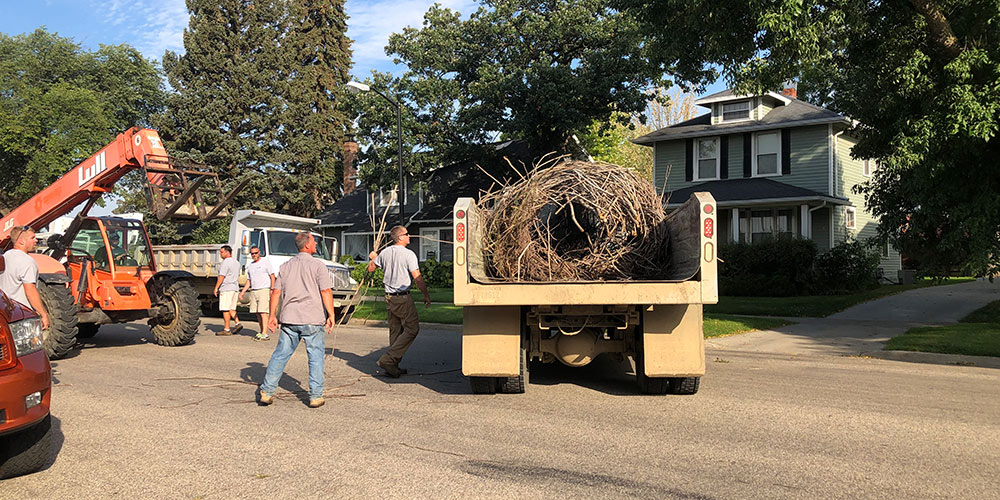 The structures were trucked 4 miles to Dakota Nature Park located on the south side of Brookings.