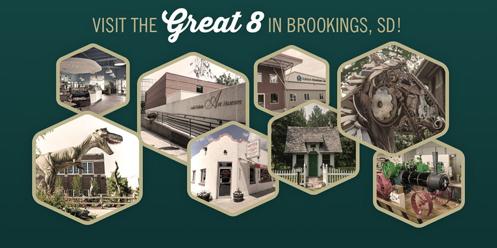 The Brookings Great 8 is your passport to one-of-a-kind attractions in Brookings, South Dakota