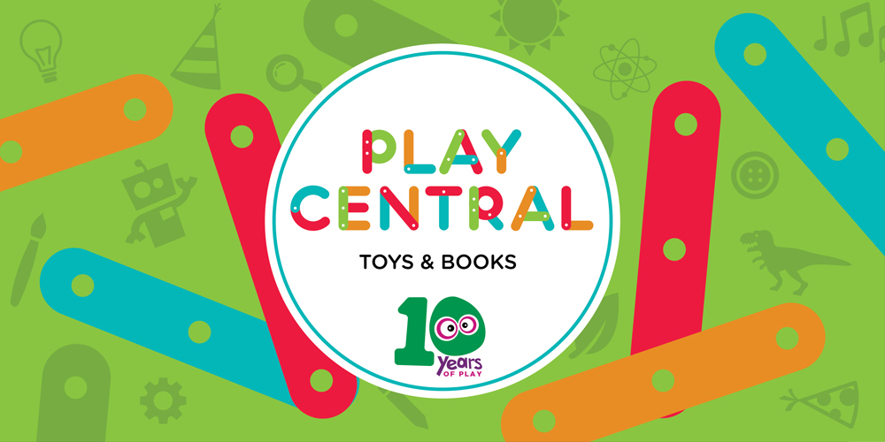 Anniversary week special: Take 20% off of your purchase of $100 or more at Play Central Toys & Books.