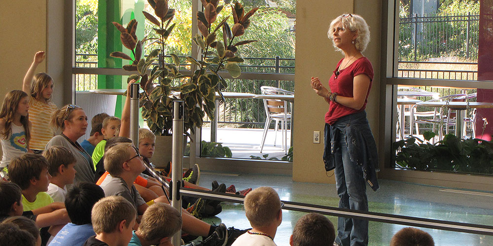 Author Kate DiCamillo speaks at the 2014 Young Readers Book Festival.