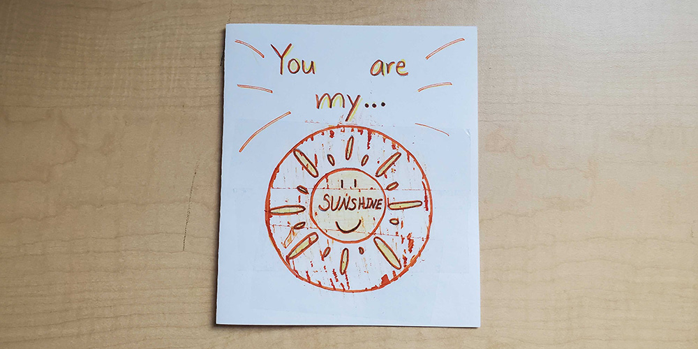 Give the card to a special friend and they can scratch off the paint to reveal the message!