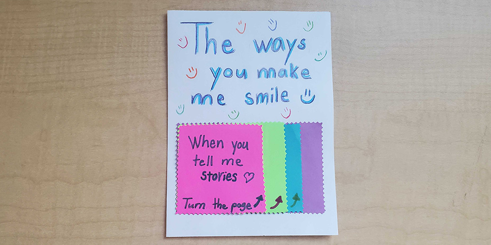 Awwww.... flip each tab for more special messages!