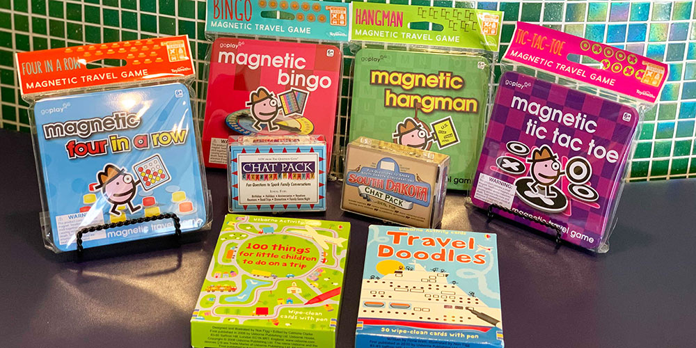 Magnetic games make for a great road trip activity.