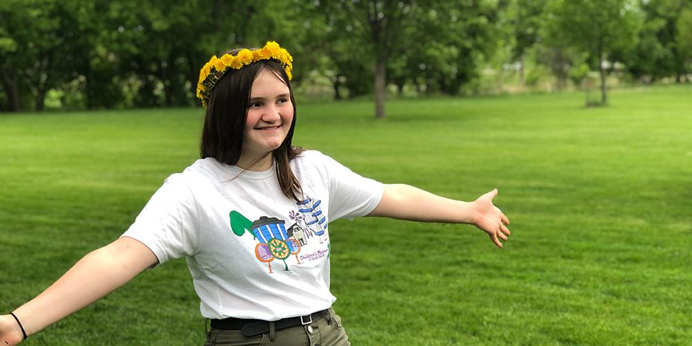 Watch Sierra create a dandelion crown in this video